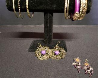 Costume Jewelry Purple
