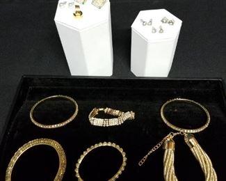 Golden Bracelets and Earrings