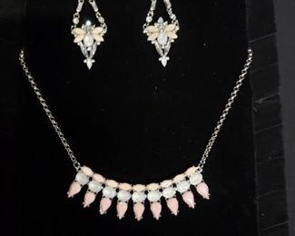 Light Pink and Rhinestone Jewelry