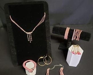 Pink Costume Jewelry