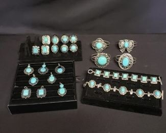 Western Style Turquoise Colored Jewelry