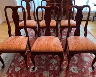 Ethan Allen Georgian Court Dining Room Chairs six