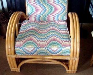 Calif-Asia mid-century rattan chair.