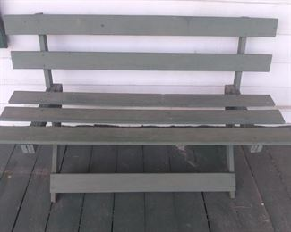 Pair of Primitive Porch Benches