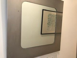 4 Pierre Cardin Hallway Mirrors from his Paris Showroom! Hallway mirrors (four).  Pierre Cardin, 1972, designed and fabricated for his Paris showroom.  $3000