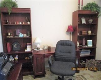 HOOKER - Desk, File Cabinets, Computer Desk, Bookcases........Chair, Area Rugs, Office Supplies, printer, etc. etc..