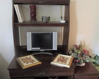Smaller Desk with bookcase... and smaller file cabinet ..