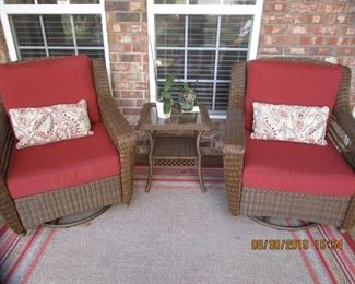 Matching  Rocker Chairs, end table.. all sold separately..