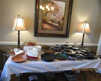 Copperware,Brand Name Cookware, Fryer, etc.