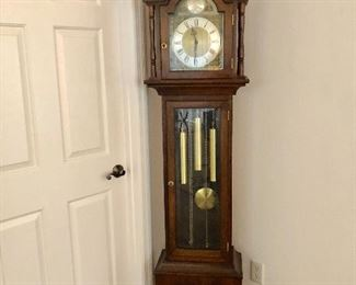 Vintage German Grandfather Clock - Inspected and lubricated - $300 - (18W  10D  80H)