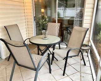 Lanai Table w/4 Sling-back Chairs - $75