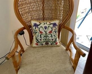 Rattan Wicker Hoop-back Chair - $115