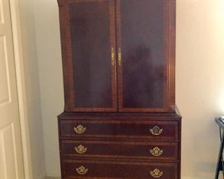 TV Armoire with 4 Drawers - The American Masterpiece Collection, Chicory White - $165 - (42W   24D  77-1/2H)