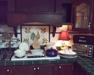 Pyrex, Corning Ware, Platters, Toaster, Bread Box