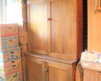 Late 1860's walnut cupboard.