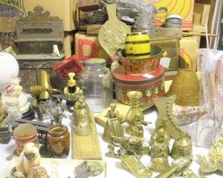 Lots of wonderful old English brass items (all old) from their European travels