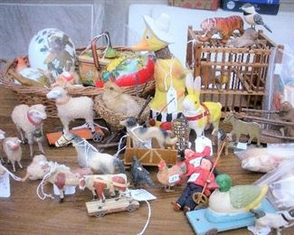 Easter, Christmas and other antique items