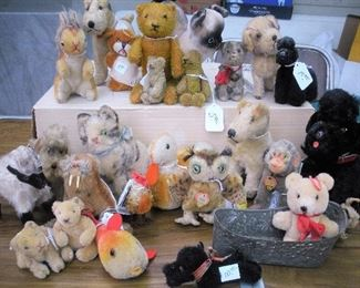 Collection of Stieff animals...all need new and loving homes