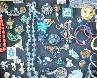 Multiple case and trays of vintage costume jewelry will be available...LOTS of Jewelry....visit the 3 table jewelry station area.
