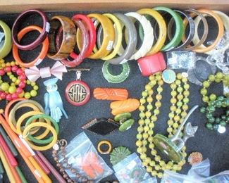 Lots of Bakelite jewelry...more to be photographed.