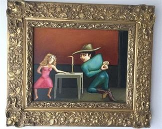 """PRESTON MCCALL, AMERICAN 20th CENTURY """"UNCLE JACK"""" OIL ON CANVAS, SIGNED"""