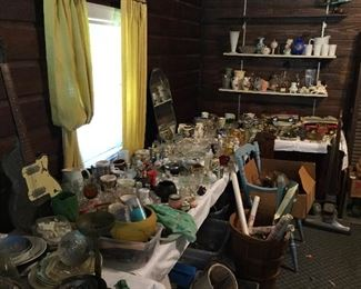Loads of glassware and collectibles