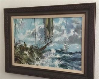 "original vintage oil painting approximately 24"" x 30"" – $145"