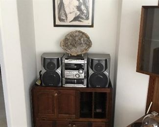 stereo with multiple CD unit – $95