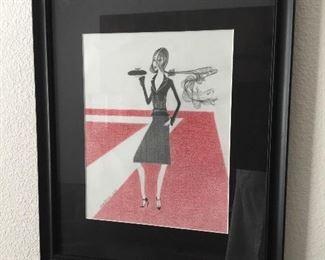 outstanding mid century original art – $95 unlisted artist