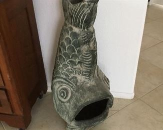 contemporary fish outdoor chimney fireplace – $95