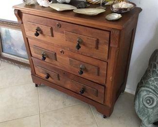 early Victorian walnut dresser all original – gorgeous – $165