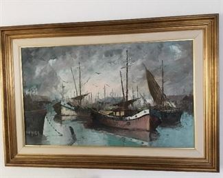 """outstanding larger oil painting approximately 44"""" x 30"""" – $195"""