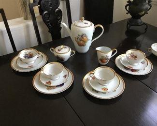 luncheon tea set all excellent condition no chips – $65 set