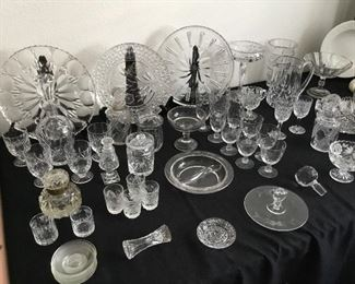 vintage crystal including Waterford and American brilliant plus more