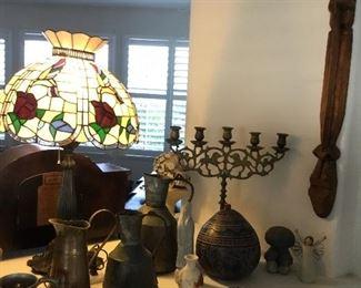 Tiffany style lamp $95 – glass not plastic
