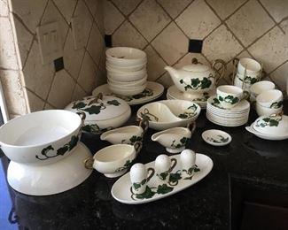 Poppy trail China set – many serving pieces $195