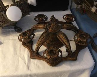 antique ceiling light – $95