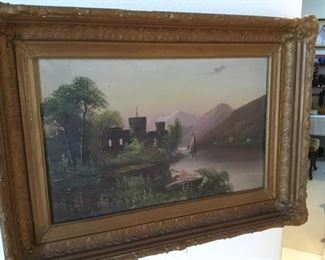 19th century oil painting unknown artist – $165