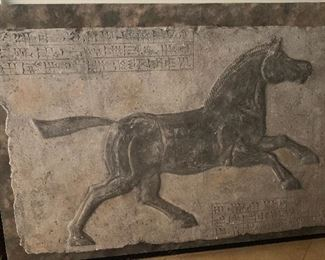 horse wall plaque approximately 3' tall by 5' wide