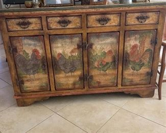 French provincial style hand painted buffet