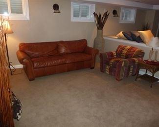 Bernhardt Leather Sofa w/stud work
