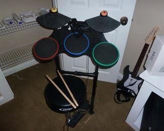 Guitar Hero Drum set & Guitar