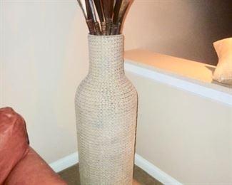 Large Woven Vase w/ Palms