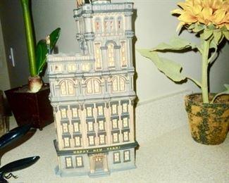 lit New York building