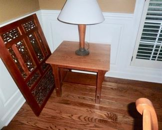 Cherry window, Amish lamp table