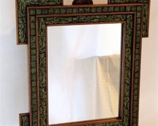 Stone Mosaic Inlay mirror - Made in Mexico