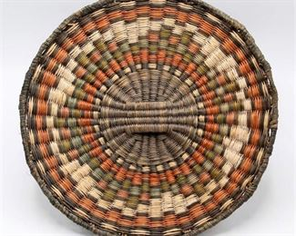 Native American Basketry Wicker Plaque