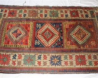 Native American Rug - Red & blue design, appears very old