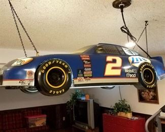 Vintage Rusty Wallace Car pool table Light
