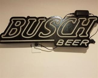 Busch Beer neon light  (works but not shown)